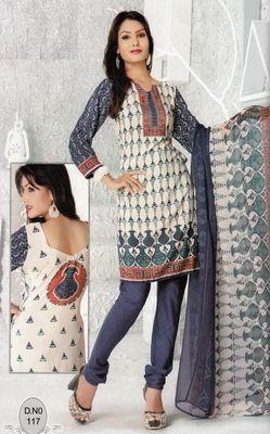 Dress Material Elegant French Crepe Printed Unstitched Salwar Kameez Suit D.No N117