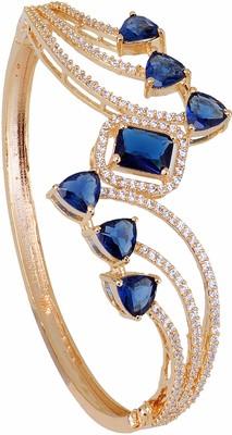 Blue cubic zirconia bangles-and-bracelets