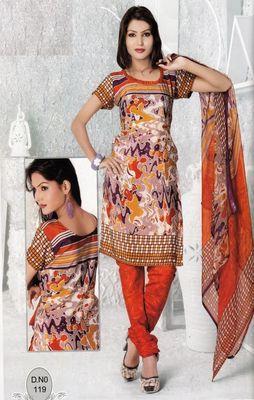 Dress Material Elegant French Crepe Printed Unstitched Salwar Kameez Suit D.No N119