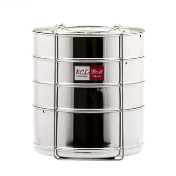 KCL Stainless Steel Cooker Separator Suitable for 12 litres Prestige Cooker Outer Lid (4 Containers with Lifters)