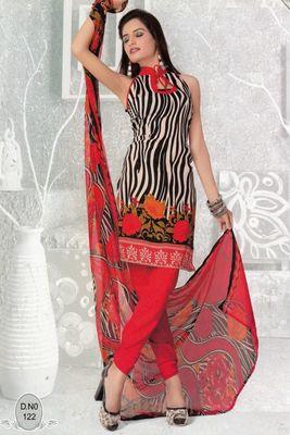 Dress Material Elegant French Crepe Printed Unstitched Salwar Kameez Suit D.No N122