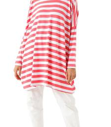 JSDC Stretchable Strips Printed Tunic Kaftan For Women