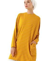 JSDC Women Crew Neck Style Tunic Kaftan Dress With Pockets