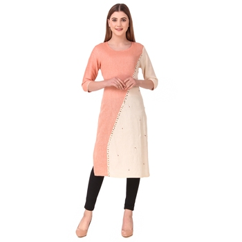 SWAGG INDIA Women's Wear South Cotton Kurti With Hand work