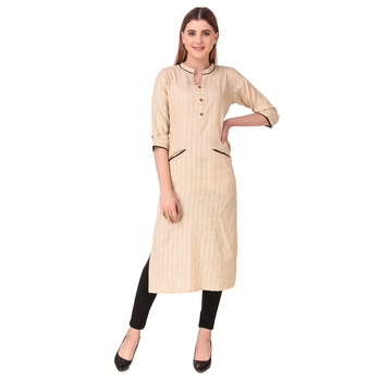 SWAGG INDIA Women's Wear Rayon Cotton Kurti with Front Pocket Style
