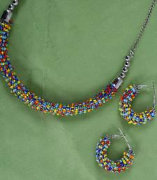 Alloy Multi Color Choker Traditional Antique Necklaces Set