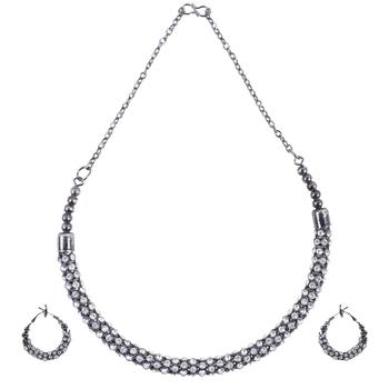 Alloy Silver Color Choker Traditional Antique Necklaces Set