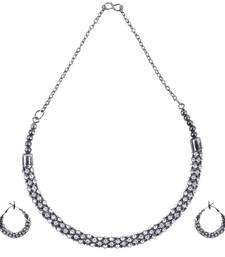 Alloy Silver Color Choker Traditional Antique Necklaces Set