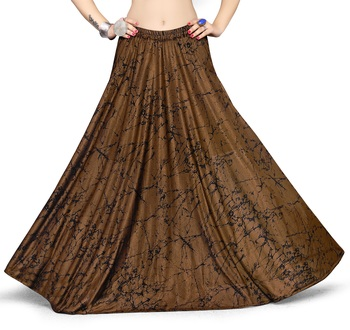 Copper printed polyester skirts