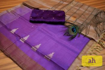 Purple Colored Vaalai Silk Saree With Blouse