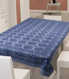 TEXSTYLERS 100% Cotton Jaipuri Print (60x90 In) 6 Seater Table Cloth Cover
