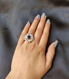 Blue American Diamond Ring