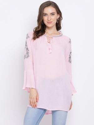 Bella Embroidered Women Top