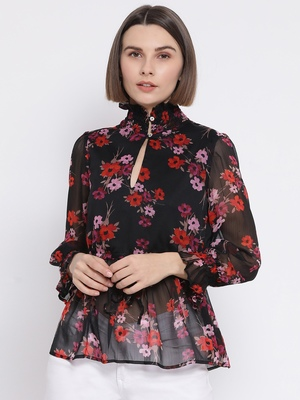 Floral Victorian Chic Women Top