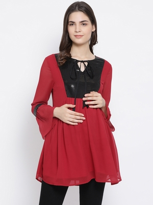 Fiery Tradition Stylized Maternity Tunic