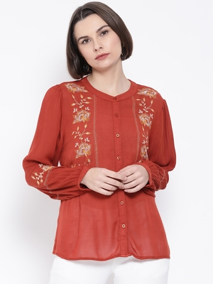 Rust Code Dashan Embro Women Shirt