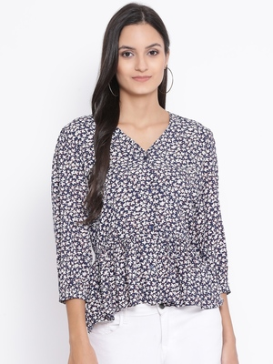 Blossom Manifesto Button Women Top