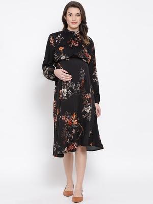 Floral Enigma Docile Maternity Women Dress