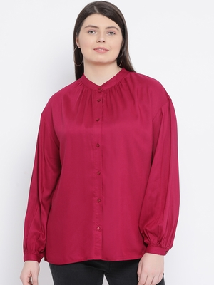 Fuschia Dorothy Plus Size Women Shirt