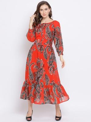 Paisley Gontour Maxi Women Dress