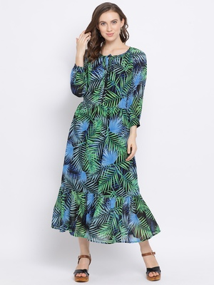 Tropical Memory Maxi Women Dress