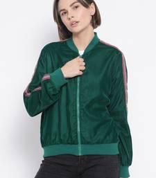 Green Curtain Side Detail Women Jacket