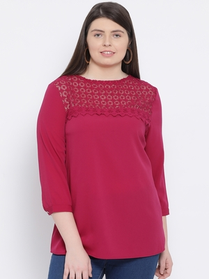 Fuschia Laura Stylized Plus Size Women Top