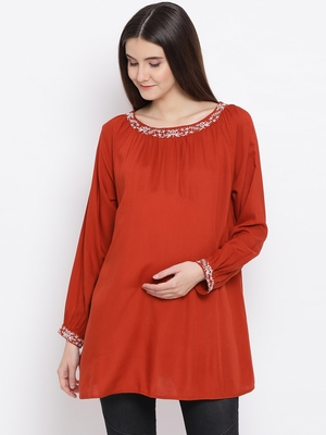 Rust Glorious Maternity Women Top
