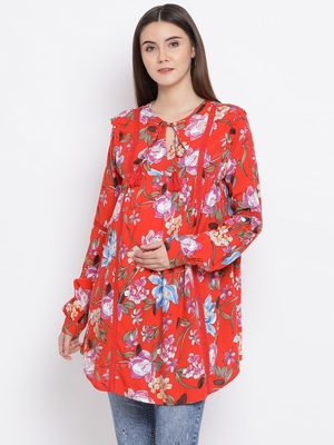 Floral Samantha Maternity Women Top