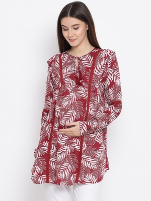 Tropical Tiara Maternity Women Top