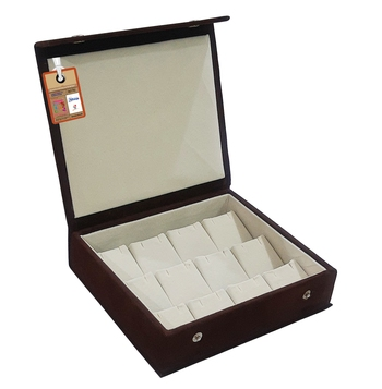 atorakushon® Velvet  Makeup Storage Box Travelling Vanity Jhumka Earrings Cosmetic Necklace Jewellery Organizer Brown