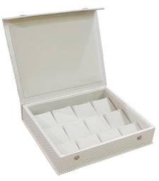 atorakushon® PU Leather Makeup Storage Box Travelling Vanity Jhumka Earrings Cosmetic Necklace Jewellery Organizer cream