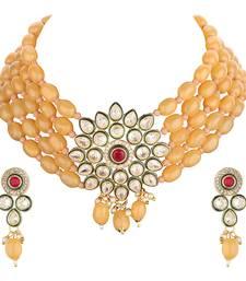 Golden gemstones necklace-sets