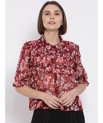 Floral Garden Savage Women Shirt
