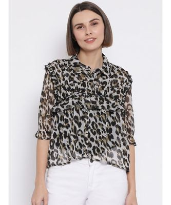 Wild Leopard Persona Women Shirt