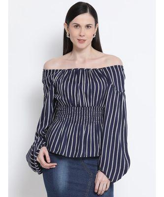 Striped Stunner Waistline Women Top