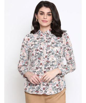 Floral Mana Button Women Shirt