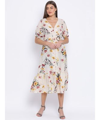 Branched Decadence Belted Women Dress