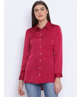 Maroon Sassy Women Shirt