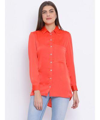 Orange Sassy Women Shirt