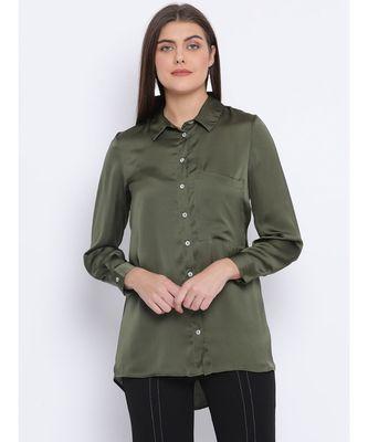 Khaki Sassy Women Shirt