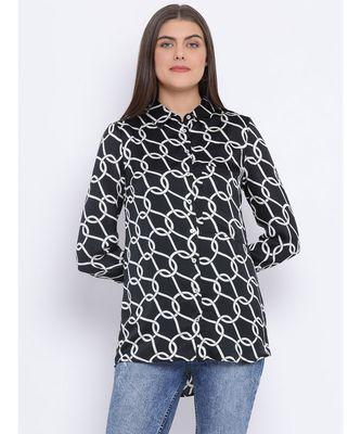 Abstract Chain Sassy Women Shirt