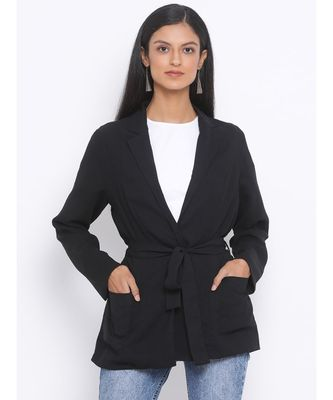 Black Glitter Luxurious Women Jacket