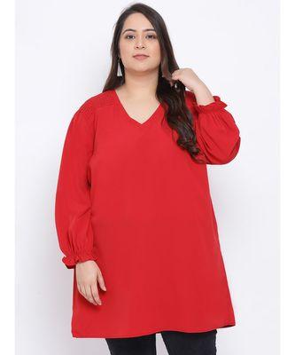 Fiery Lactoral Plus Size Women Tunic