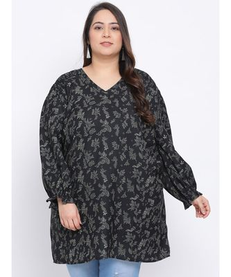 Forest Glamour Plus Size Women Tunic