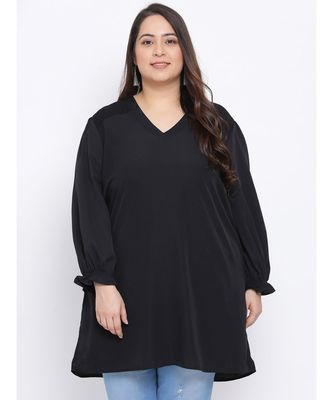 Black Amber Plus Size Women Tunic