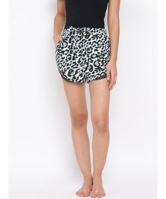 Wild Print Nightwear Women Shorts