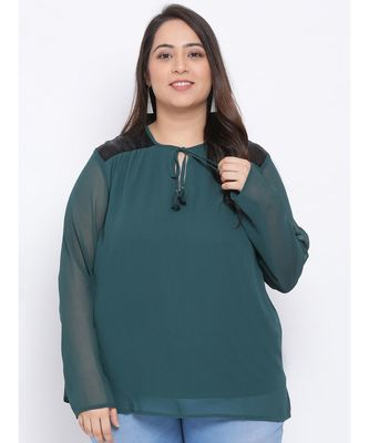 Green Forest Plus Size Women Top