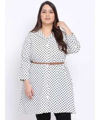 Polka Dot Plus Size Women Tunic