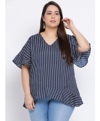 Stripe Gallaway Plus Size Women Tunic